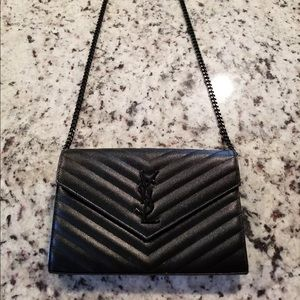YSL Black Clutch Wallet Bag